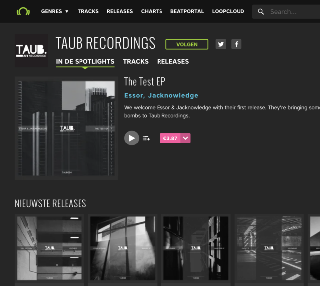 Beatport Taub Recordings
